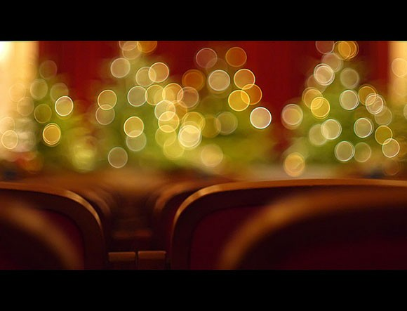 Christmas in a theater