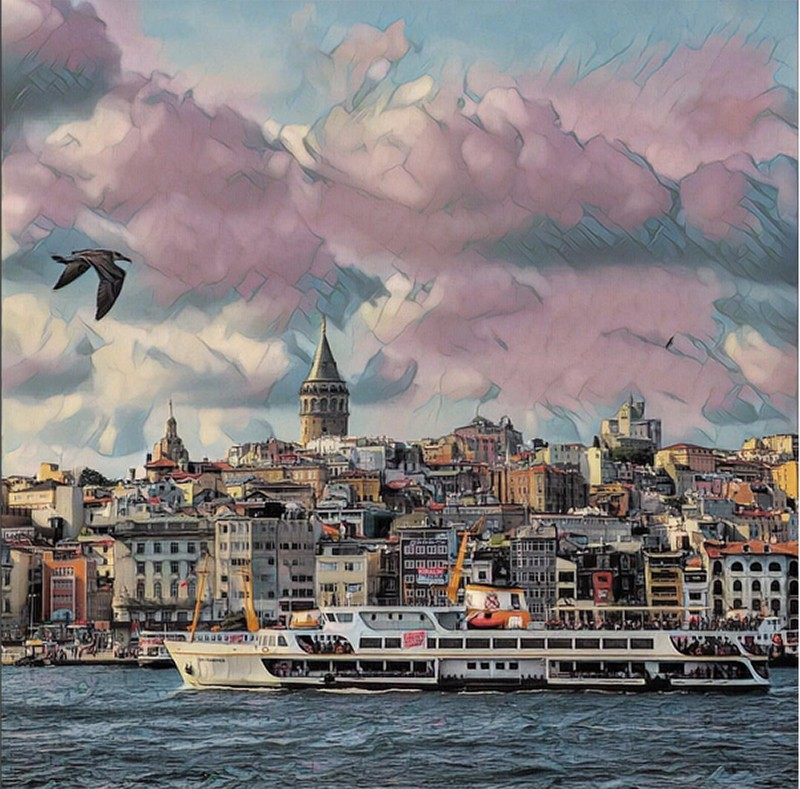 Vista de Estambul, por @abdullahshhn