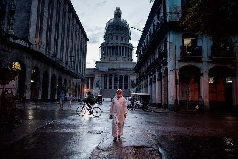 Fotografía de la exposición 'Cuban Muslims. Tropycal Faith'.