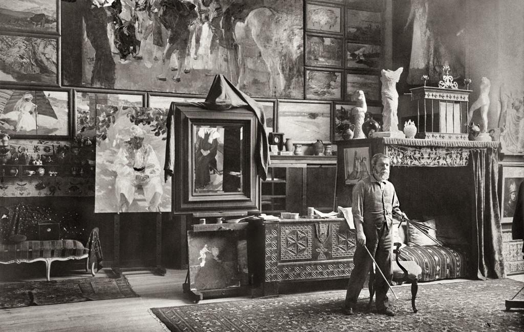Sorolla en su estudio. Ricardo de Rivero. 1911